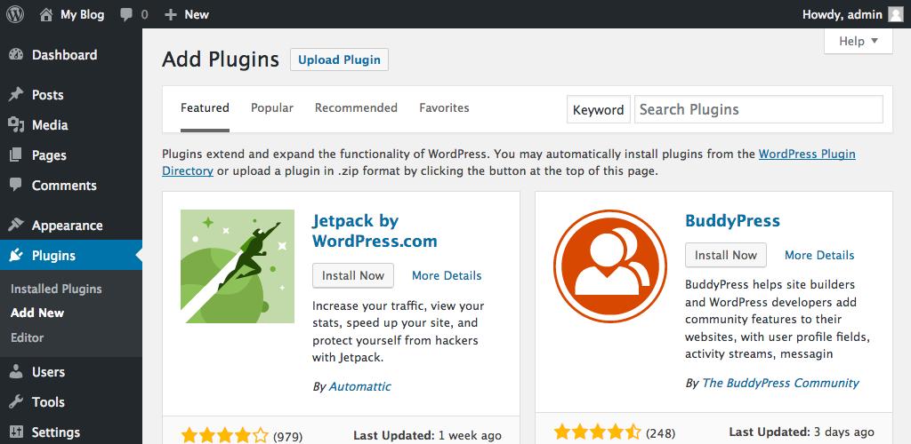 Adding Plugins In WordPress
