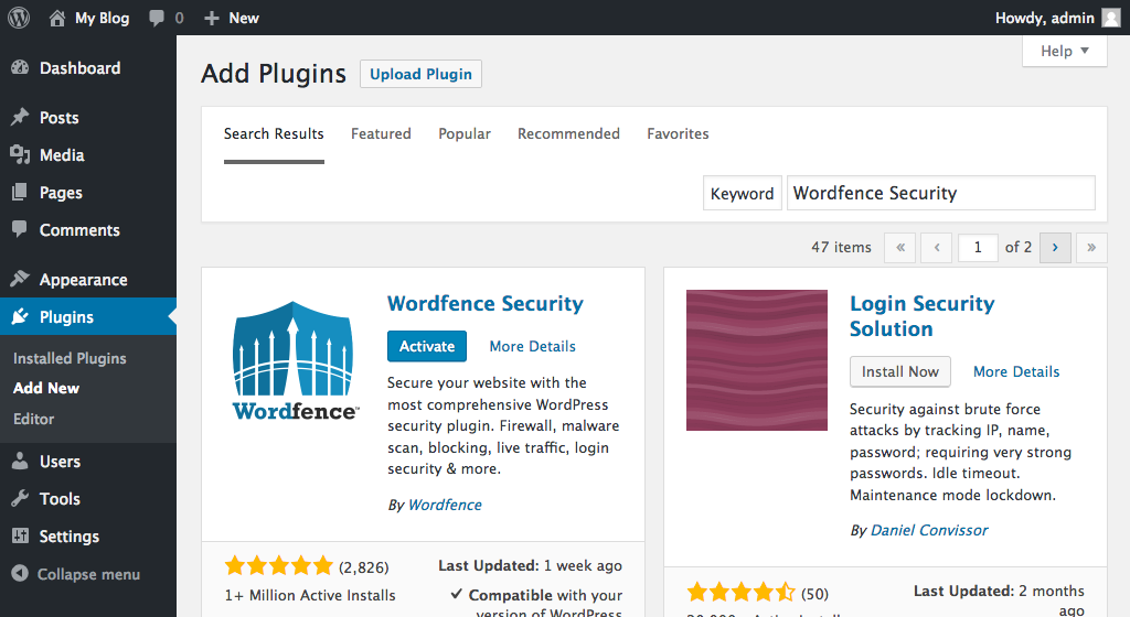 Recommended WordPress plugins